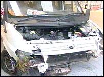 Minibus involved in crash