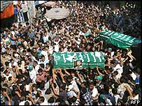 The funeral of Adnan al-Ghoul
