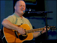 Christy Moore playing at the BBC Radio 2 Folk Awards