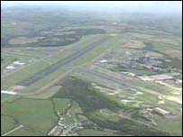 Runway at Newquay Airport