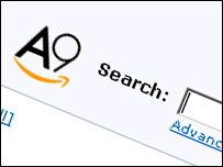 Amazon's A9 search engine