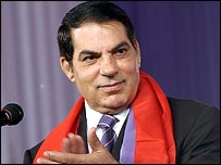 الرئيس التونسي زين العابدين بن علي