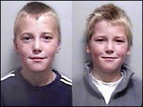 Liam (left) and Jamie Bradford