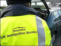 Immigration officer searches car