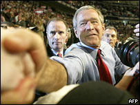 George Bush on the campaign trail