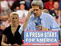 John Kerry on the campaign trail
