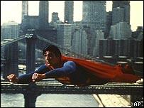 Christopher Reeve, en su rol de Superman.