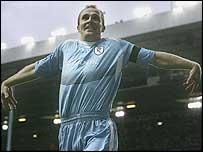 Bolton striker Henrik Pedersen celebrates his winner