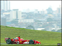 Rubens Barrichello at the Brazilian Grand Prix