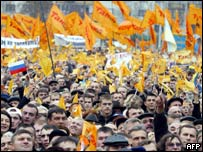 Thousands march on Kiev's streets