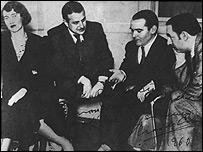 Mar�a Antonieta Hagenaar, Chas de Cruz, Federico Garc�a Lorca y Pablo Neruda. Buenos Aires, 1934. Foto: Fundaci�n Federico Garc�a Lorca.