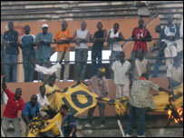 Asec Abidjan fans celebrating