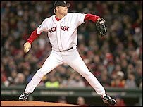 Boston pitcher Curt Schilling