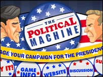 Screen grab of The Political Machine game, Ubisoft