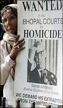 Bhopal protester in Delhi