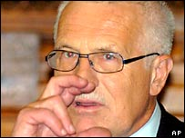 Czech President Vaclav Klaus