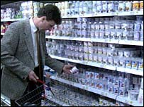 Image of a man shopping
