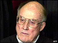 US Supreme Court Chief Justice William H Rehnquist