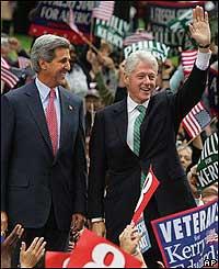 Bill Clinton y John Kerry
