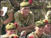 Black Watch soldiers in Basra before their move north