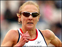 Great Britain's Paula Radcliffe in action