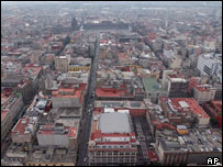 The historic centre of Mexico City