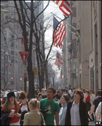 Shoppers on Fifth Avenue
