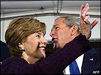 Laura and George W Bush in Onalaska, Wisconsin