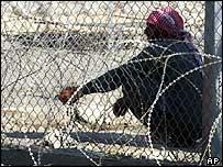 Iraqi detainee at Abu Ghraib prison