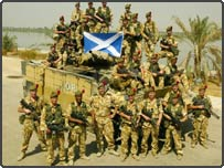 Troops from the 1st Battalion The Black Watch