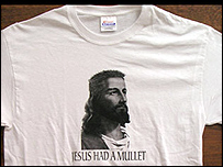 Mullet-wearing T-shirt