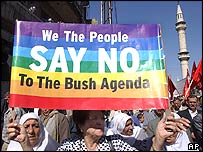 Anti-Bush protestors in Jordan