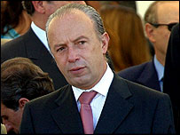 Portuguese prime minister Pedro Santana Lopes