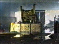 The factory after the fire