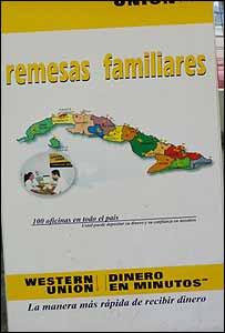 Promoción para envío de remesas de Western Union (Foto Raquel Pérez)