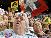 Kerry supporters in the US
