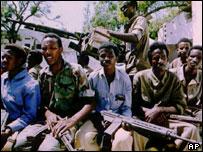 Somalian militia members