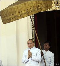 King Sihamoni in the Royal Palace, 28 Oct