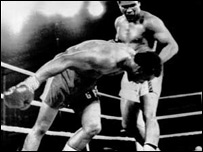 Ali sends Foreman to the canvas in Zaire