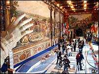 The Campidoglio hall in Rome