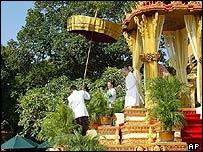 Cambodia's King Sihamoni on his coronation day