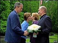 На встрече Буша и Путина