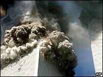 Обрущение башни Всемирного торгового центра 11 сентября 2001 года