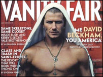 David Beckham's Vanity Fair front cover