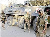 Isaf troops on patrol