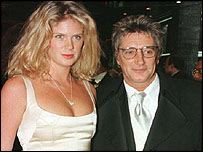 Rachel Hunter and Rod Stewart