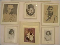 Pictures of Nehru and Indira Gandhi