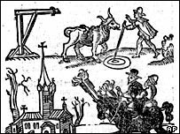 Woodcut of witch trials