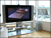 TV set at Toshiba Home in London