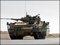Warrior armoured vehicle in Iraq